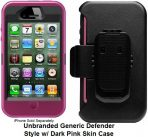 iPhone 4 4s Dark Pink Defender Style Unbranded