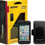 iPhone 4 4s OtterBox Defender All Black