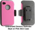 iPhone 4 4s Light Pink Defender Style Unbranded