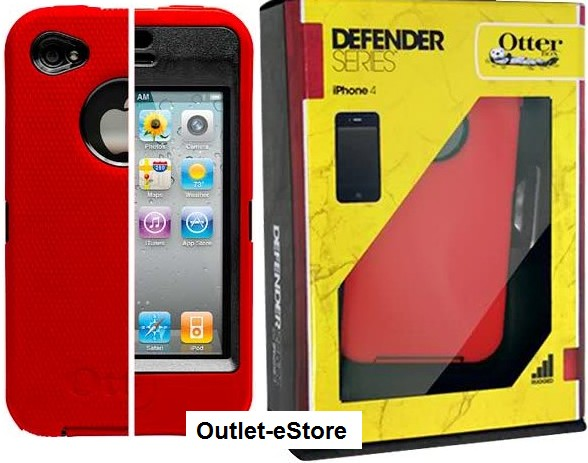 Otterbox Defender Red Case for iPhone4