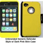 Yellow iPhone4s Otterbox Defender style case