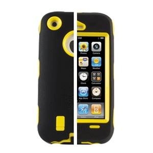 Black Yellow iPhone4 4s Otterbox Style Case