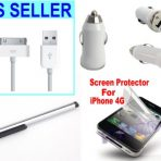 iPhone 4 4s Four Piece Accessories Kit