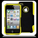 iPhone 4 4s Ultralight Perforated Ventilated Case – Yellow/Black