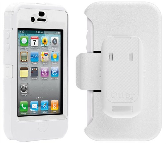 iPhone 4 4s Otterbox defender White Case